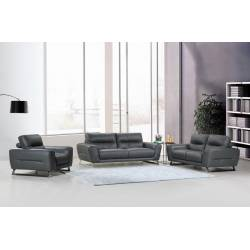 485 - Dark Gray 2pc sets Sofa + Loveseat
