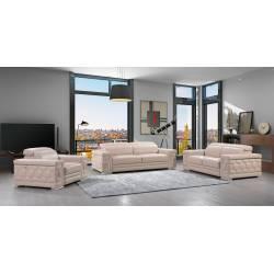 692 - Beige 2PC SETS Sofa Set + Love seat