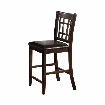 102889 Lavon Upholstered Counter Height Stools Black And Espresso