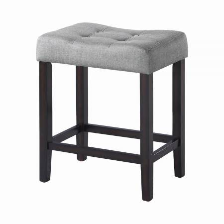 182016 Upholstered Backless Counter Height Stools Grey