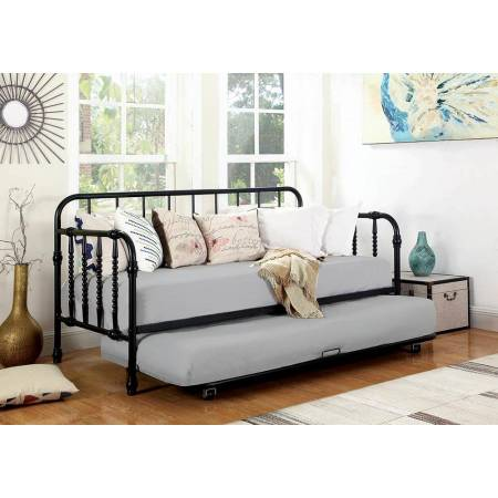 300765 Twin Metal Daybed With Trundle Black