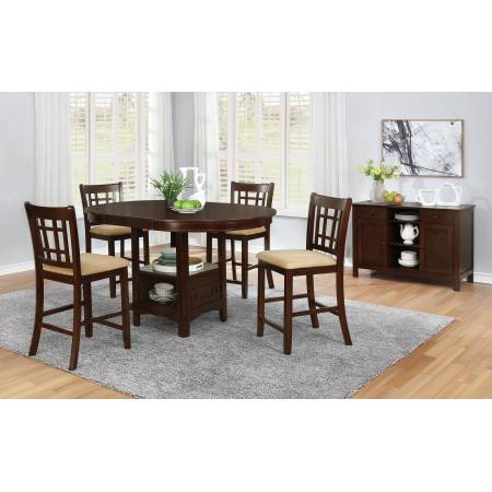 100888N-S5 5PC SETS Lavon Oval Counter Height Table + 4 Counter Stools
