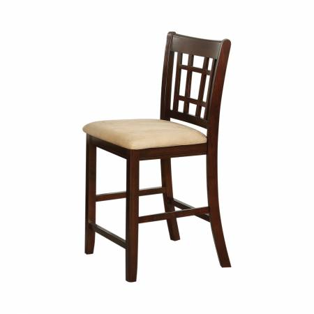 """100889N Lavon 24"""" Counter Stools Tan And Brown"""
