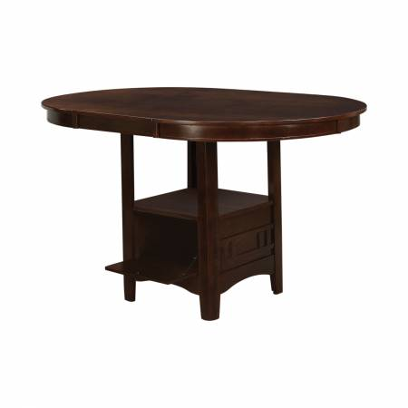100888N Lavon Oval Counter Height Table Warm Brown