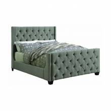 300708KW Palma California King Tufted Upholstered Bed Grey