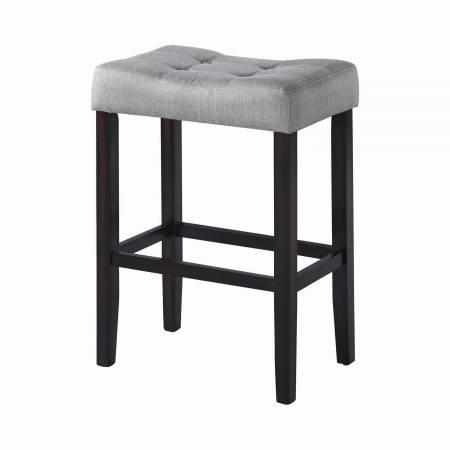 182013 Upholstered Backless Bar Stools Grey