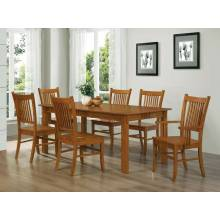 100621-S7 7PC SETS Marbrisa Rectangular Dining Table + 4 Side Chairs + 2 Arm Chairs