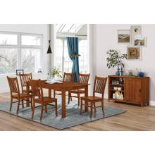 100621+100622*6 7PC SETS Marbrisa Rectangular Dining Table + 6 Side Chairs