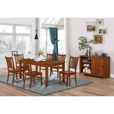 100621-S5 5PC SETS Marbrisa Rectangular Dining Table + 4 Side Chairs