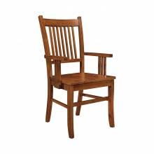 100623 Marbrisa Slat Back Arm Chairs Sienna Brown