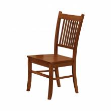 100622 Marbrisa Slat Back Side Chairs Sienna Brown