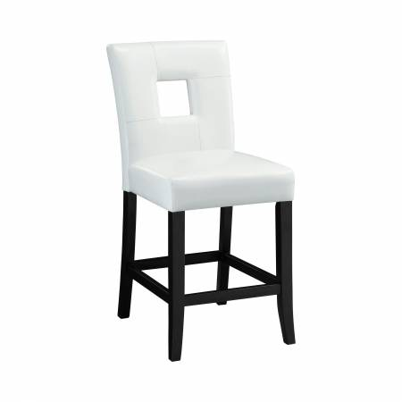103619WHT Upholstered Counter Stools White And Black