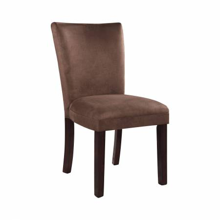 101496 Bloomfield Upholstered Side Chairs Cappuccino And Chocolate