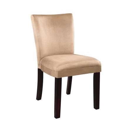 101494 Bloomfield Upholstered Side Chairs Cappuccino And Taupe