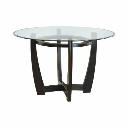101490 Bloomfield Dining Table Base Cappuccino