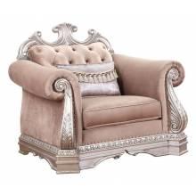 56932 Northville Tan Velvet/Antique Gold Finish Chair