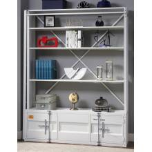 39882 Cargo White Metal Bookcase with Ladder