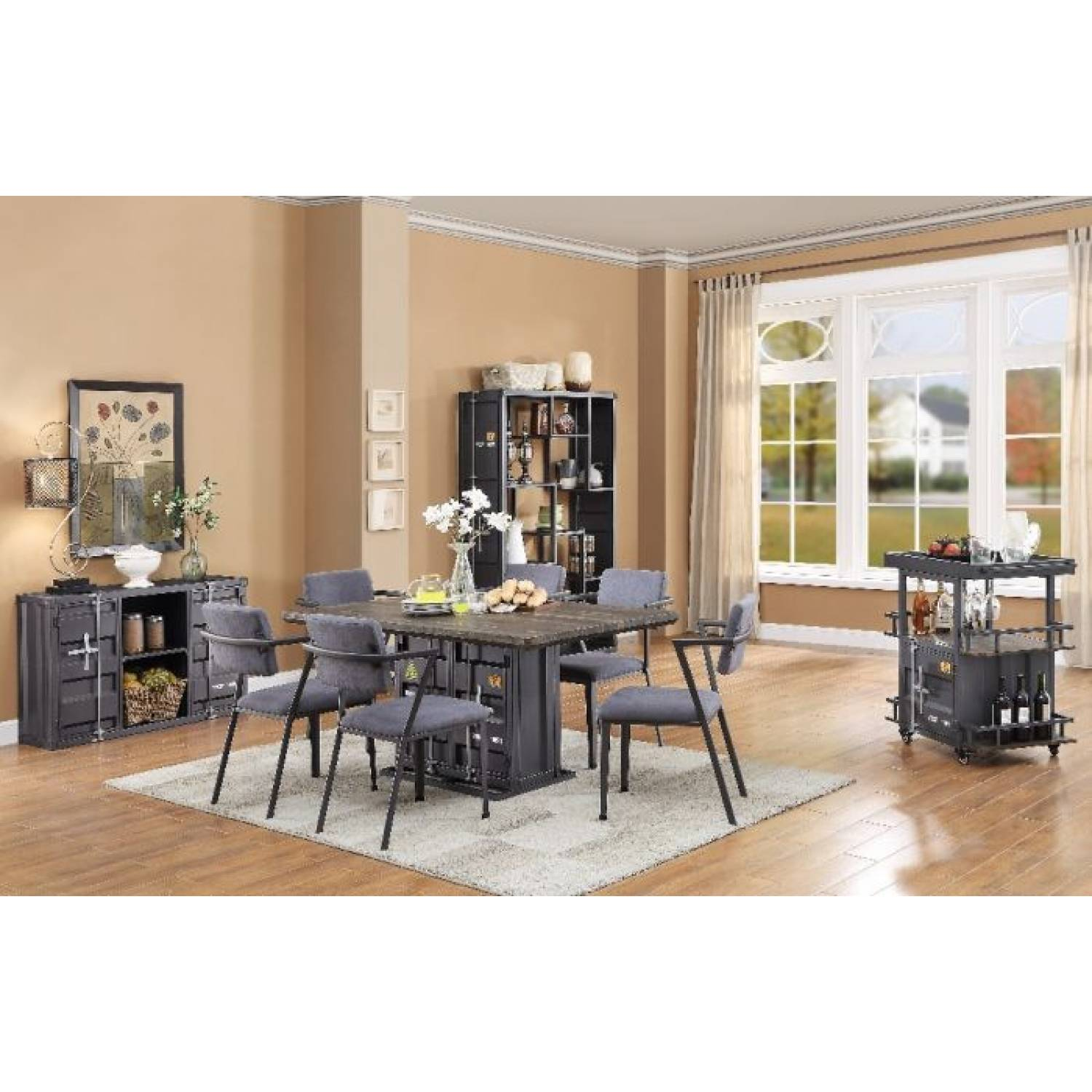 77900 77902 6 7pc Sets Cargo Dining Table 6 Dining Chairs