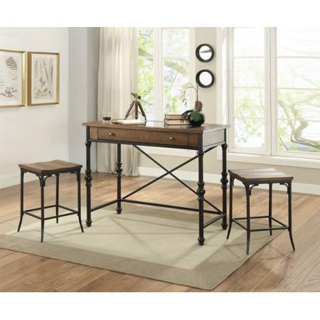 72350+72352*2 3PC SETS Jalisa Counter Height Table + 2 Counter Height Stools