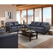 Cocus Sofa in Steel Blue Top Grain Leather Match - Acme Furniture 55785