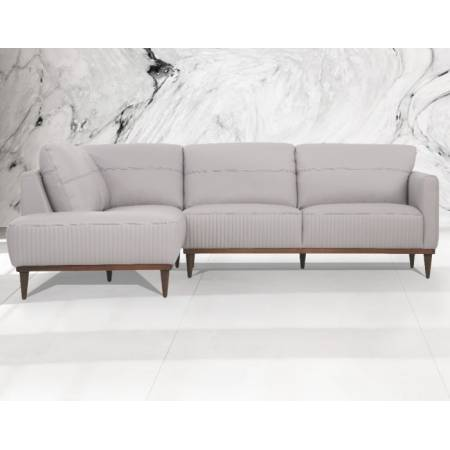 Tampa Sectional Sofa in Pearl Gray Leather - Acme Furniture 54990