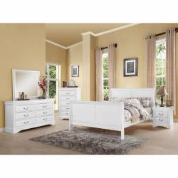 24500Q-4PC 4PC SETS Louis Philippe III 24500Q Queen Bed