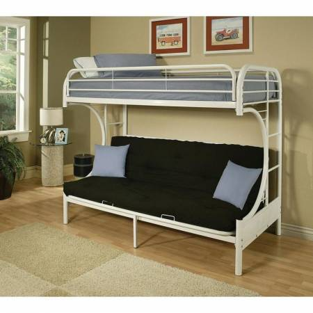 02081WH Eclipse 02081WH Twin over Full Futon Bunk Bed (Kids Beds - Bunk Bed)