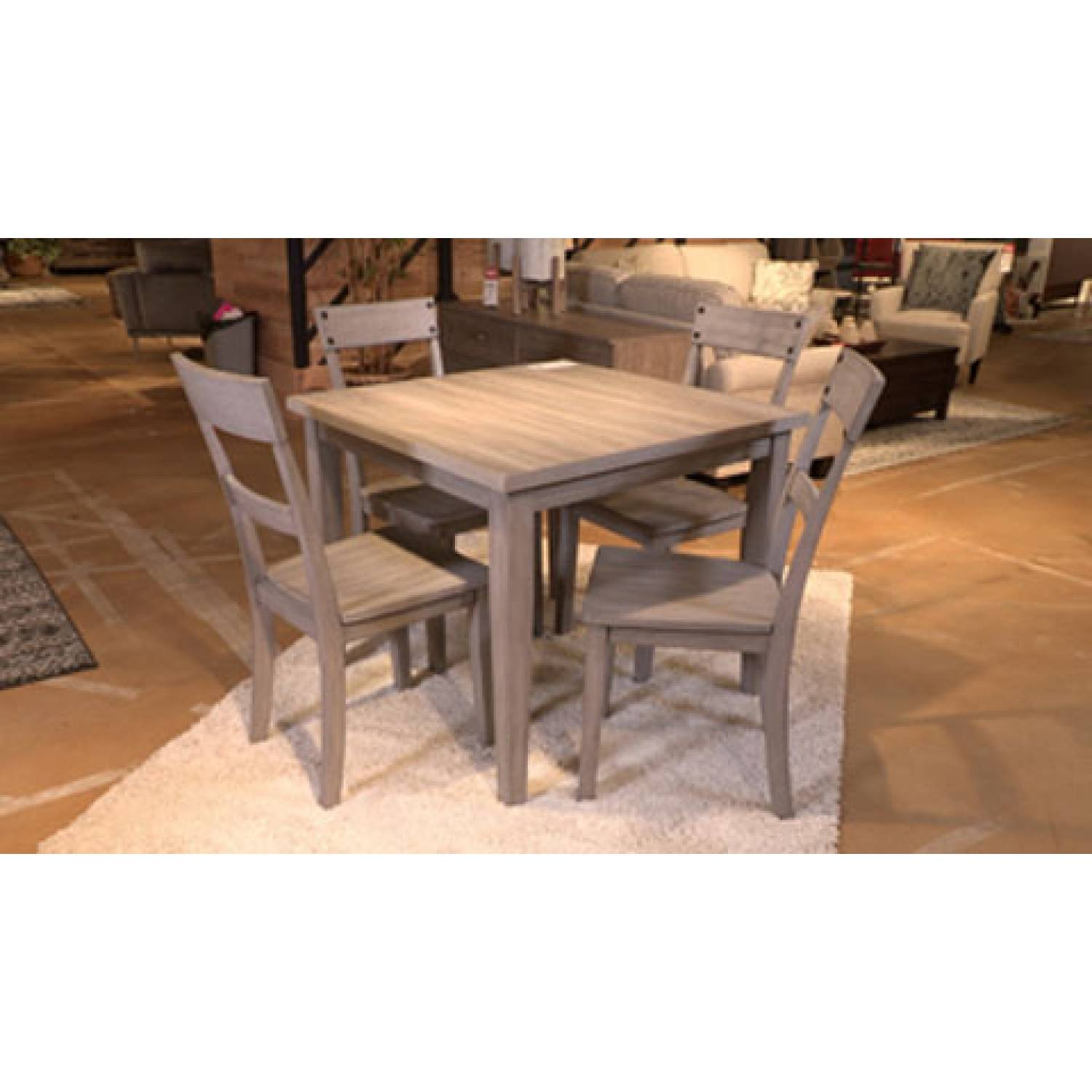 D261 Loratti 5pc Sets Square Dining Room Table 4 Side Chairs