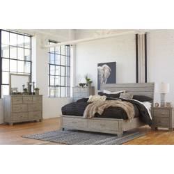 B639 Naydell 4PC SETS Queen Panel Storage Bed
