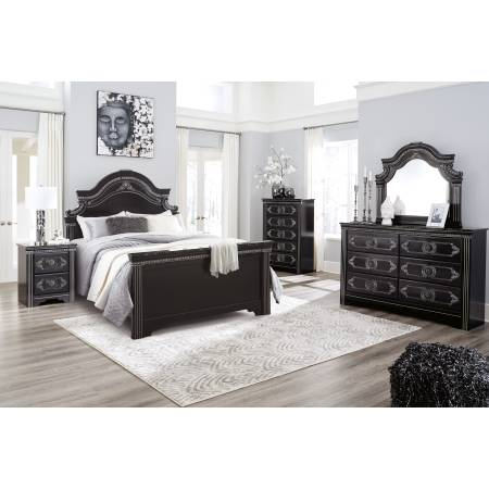 B342 Banalski 4PC SETS Queen Panel Bed