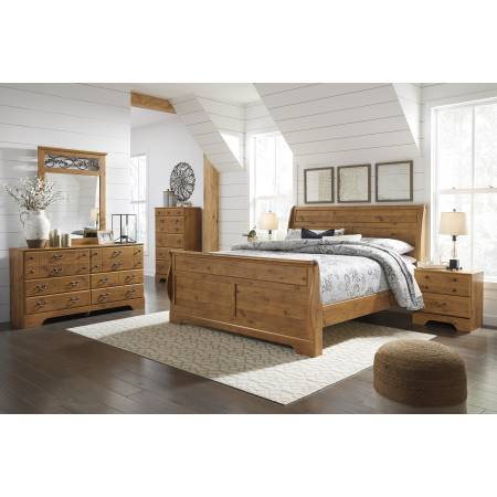B219 Bittersweet 4PC SETS King Sleigh Bed