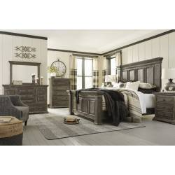 B813 Wyndahl 4PC SETS Queen Panel Bed