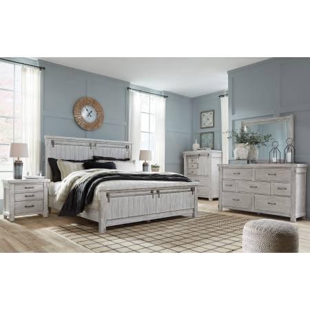 B740 Brashland 4PC SETS King Panel Bed