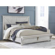 B740 Brashland Queen UPH Panel Bed