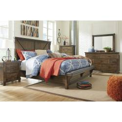 B718 Lakeleigh 4PC SETS Queen Panel UPH Bed