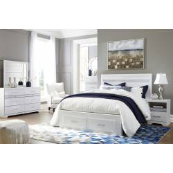 B302 Jallory 4PC SETS Queen Panel Storage Bed