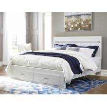 B302 Jallory King Panel Storage Bed