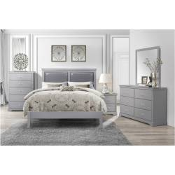 1519GY-1*4 4PC SETS Queen Bed + NS + D + M