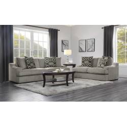 9404GY-2+3 Love Seat with 2 Pillows and Sofa with 4 Pillows Orofino