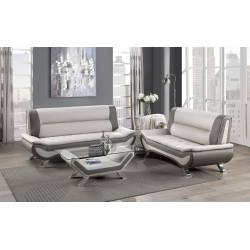 8219BEG-2+3 Love Seat and Sofa Veloce