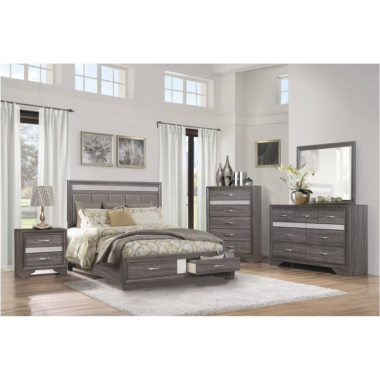 Miter 4 Piece King Bedroom Set Andrew S Furniture And Mattress