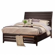 1788-81Q Legacy Black Cherry Queen Storage Bed with 2 Drawers
