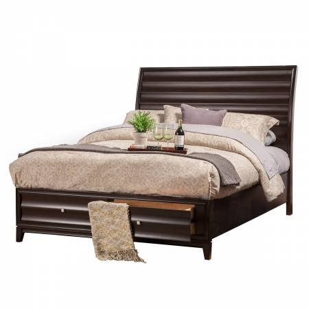 1788-88F Legacy Black Cherry Full Storage Bed with 2 Drawers