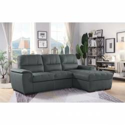 9858GY*SC 2-Piece Sectional with Pull-out Bed and Hidden Storage Andes