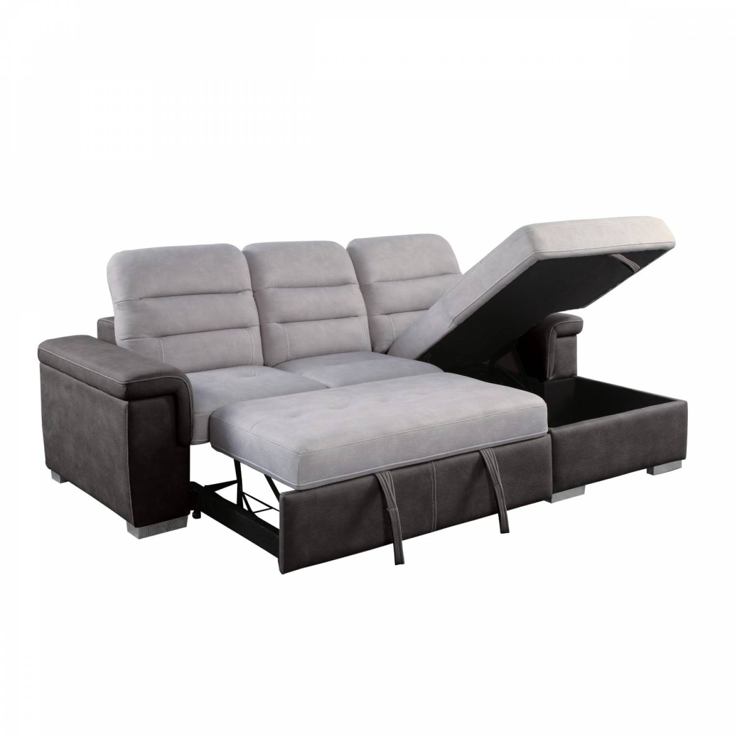 Picture of: 9808 Sc 2 Piece Sectional With Pull Out Bed And Hidden Storage Alfio
