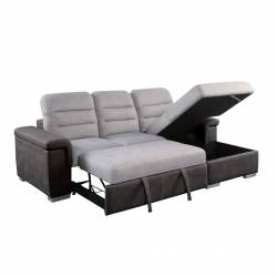 9808*SC 2-Piece Sectional with Pull-out Bed and Hidden Storage Alfio