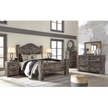 B297 Lynnton 4PC SETS Queen Poster Bed