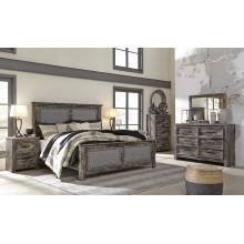 B297 Lynnton 4PC SETS King UPH Panel Bed