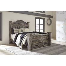 B297 Lynnton Queen Poster Storage Bed