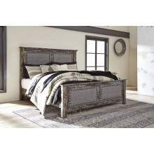 B297 Lynnton King UPH Panel Bed